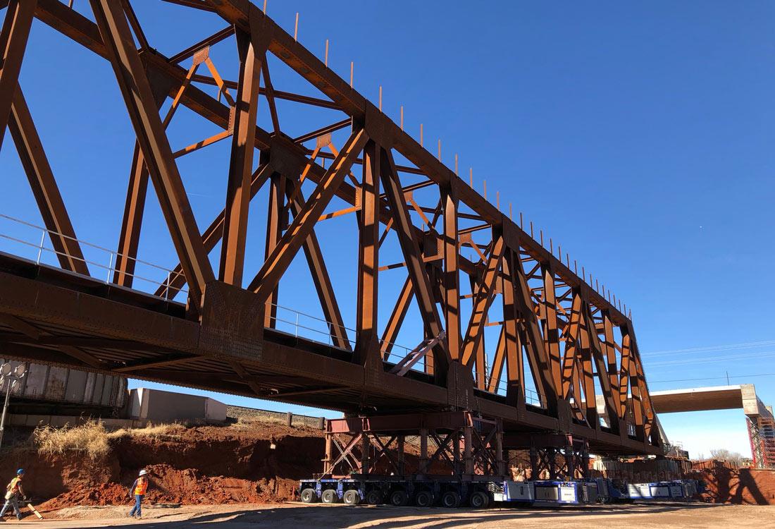 BNSF Truss Bridge over I-235 | Benham | Architecture