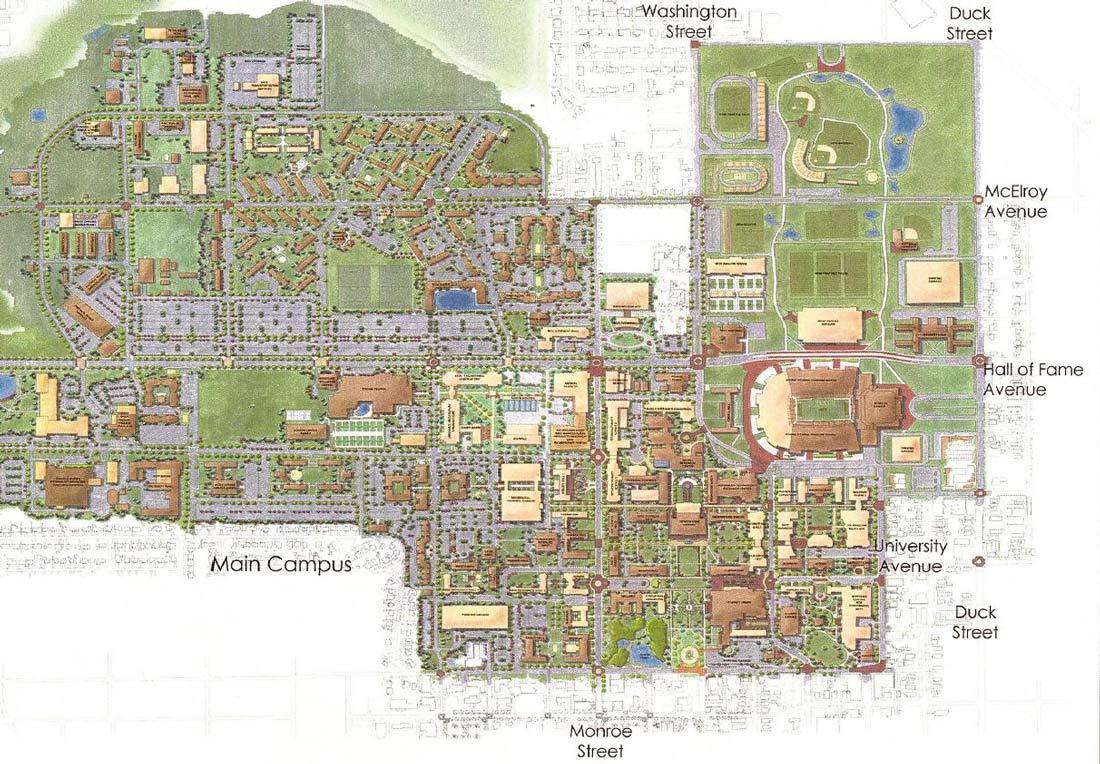 Oklahoma State Campus Master Plan Benham Architecture