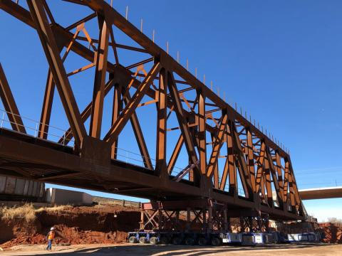 BNSF Truss Bridge over I-235