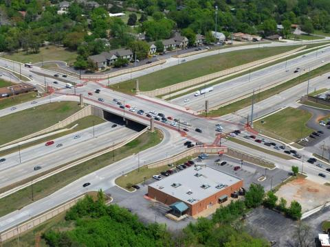 I-44 Lewis Interchange in Tulsa
